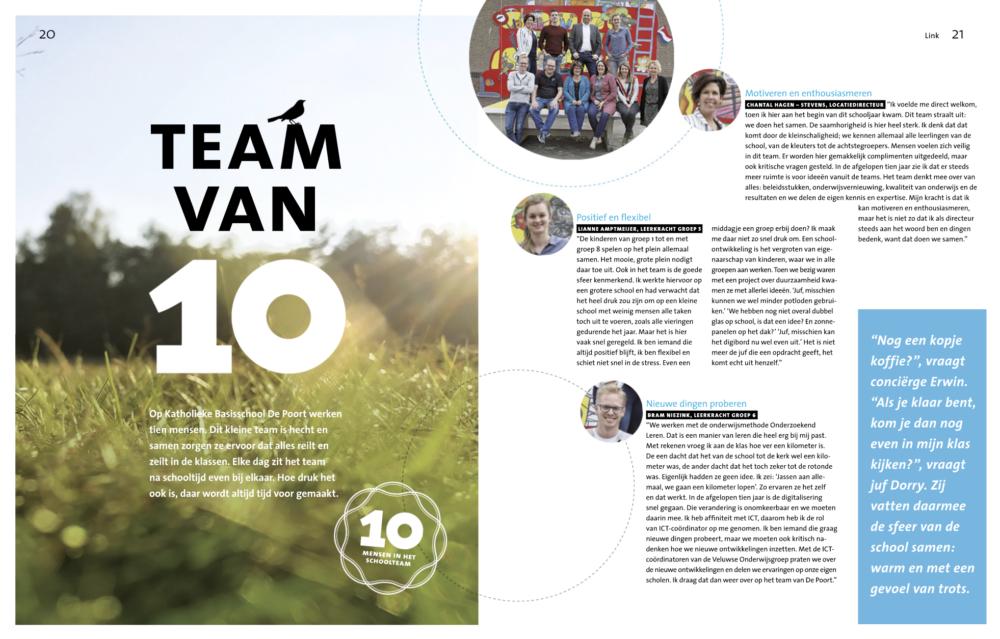 Jubileummagazine LINK Veluwse Onderwijsgroep