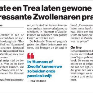 2017 Humans of Zwolle in de Stentor