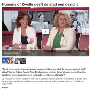 2017 Humans of Zwolle in de uitzending van RTV Oost