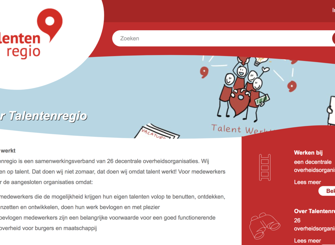 Homepage Talentenregio